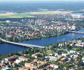 Flygfoto över Umeå